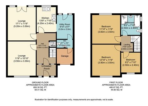 Floor Plan 2 Bedroom House Martin Amp Co Widnes 3 Bedroom Semi Detached House For Sale