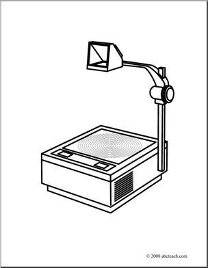clip art overhead projector coloring page abcteach