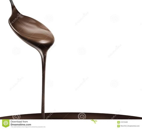 Liquid Chocolate Mr Milt liquid chocolate stock vector image 57075493