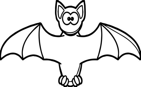 Bat Color Pages bat color page printable coloring page for