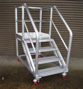 Platform Stairs by Work Aluminium Ladder Platforms Star Aluminium Scaffolds