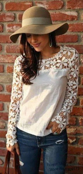 Flower Blouse S M L White Black 31311 25 best ideas about sleeve lace top on