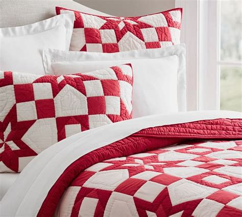 patchwork quilt sham pottery barn