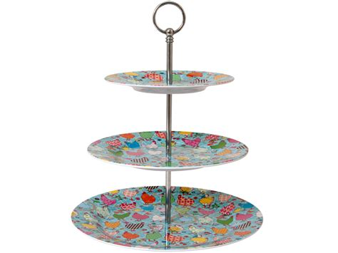 etagere rice melamine cake stand with hen print by rice denmark