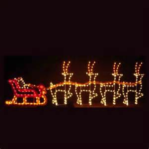 santa light dreams santa sleigh led light display 30
