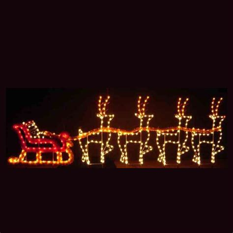 holiday dreams santa sleigh led light display 30