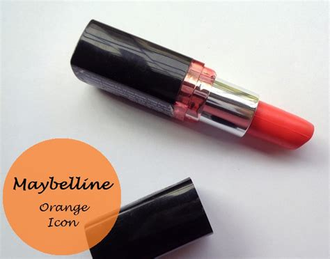 Lipstik Maybelline Orange maybelline colorshow lipstick orange icon review and swatches