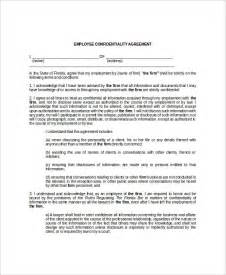 Employee Confidentiality Agreement Template Free employee confidentiality agreement template template idea