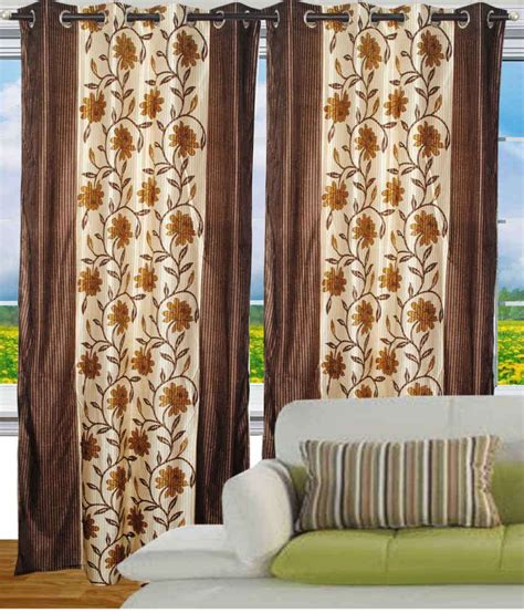 fantasy home decor fantasy home decor eyelet door curtains floral brown buy