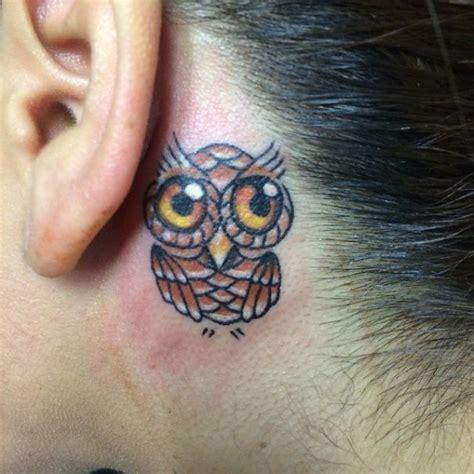 owl tattoo ear 50 awesome behind the ear tattoos