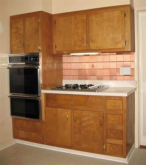 wood cabinets for kitchen wood kitchen cabinets in the 1950s and 1960s quot unitized