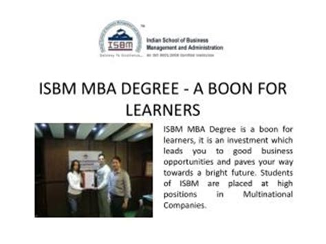 Mba Degree Subjects by Isbm Mumbai Presentations Channel