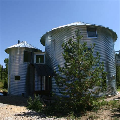 grain silos converted into contemporary rural home