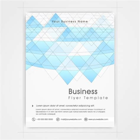 yellow business brochure template with geometric shapes business brochure template with geometric shapes vector