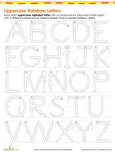 Printable Letters For 5 Year Olds | 8 basic skills worksheets