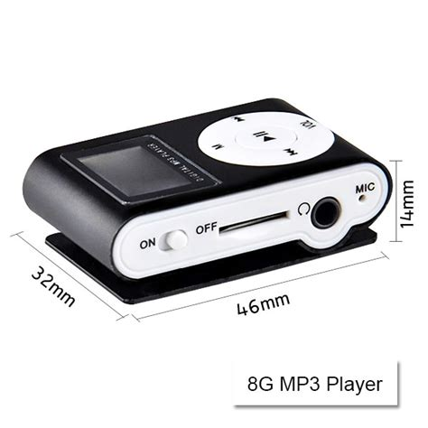 Mp3 Player Mini Clip Termurah Spesial mini clip 8g mp3 player with usb cable earphone