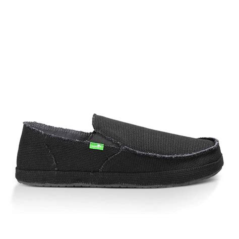 sanuk rounder s canvas slip on shoes black 11 ebay