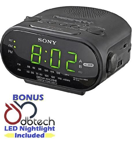 galleon sony compact am fm dual alarm clock radio with large led display independent dual