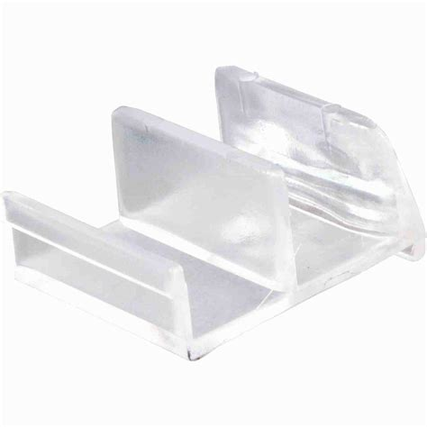 prime  clear acrylic sliding door bottom guide    home depot