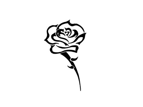 tattoo simple cartoon free designs black simple flower with thorns wallpaper
