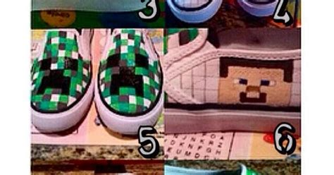 diy minecraft shoes steps for diy minecraft shoes featuring creeper steve