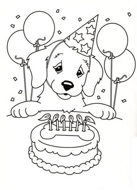 happy birthday dog coloring pages 30 free printable puppy coloring pages