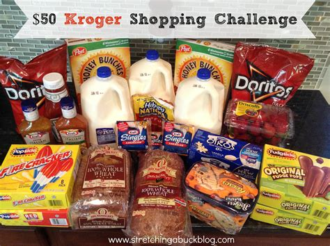 Kroger Online Gift Card - kroger shopping challenge a 50 gift card giveaway stretching a buck stretching