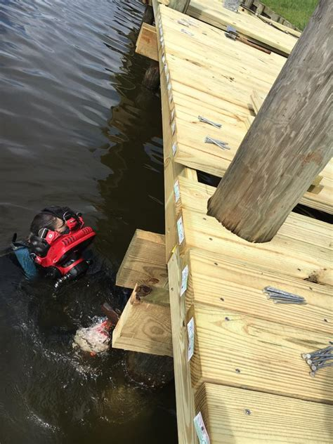 boat dock contractors near me piling repair dock repair marine construction la ms