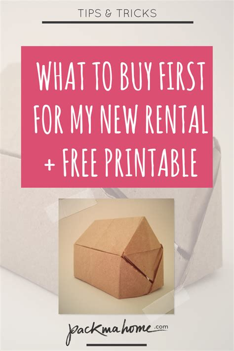 My New Renter by What To Buy For My Empty New Rental Free