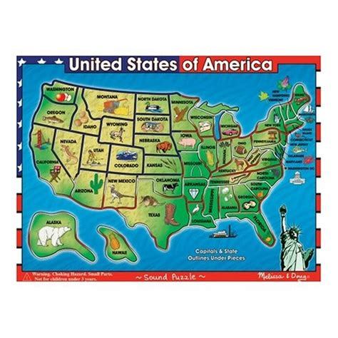 deluxe usa map puzzle doug deluxe wooden usa map sound puzzle