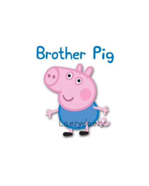 peppa pig george and b00qg5v4o4 peppa pig instant download brother pig george digital download