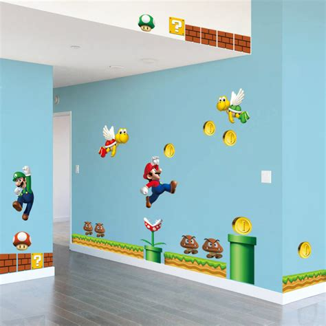 wall stickers sale on sale new mario bros pvc removable wall sticker decals home decor for room free