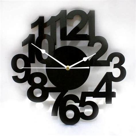 Jam Dinding Acrylic Desain Huruf Dan Angka dinomarket pasardino jam dinding rangkaian angka minimalis