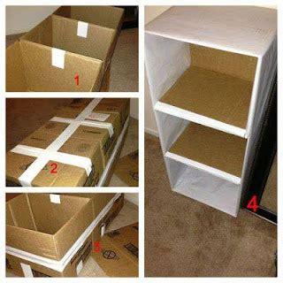 decoracion de cajas de carton reciclado muebles y organizadores hechos con cart 243 n reciclado
