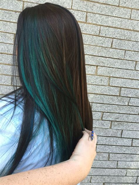colored highlights the 25 best blue hair highlights ideas on