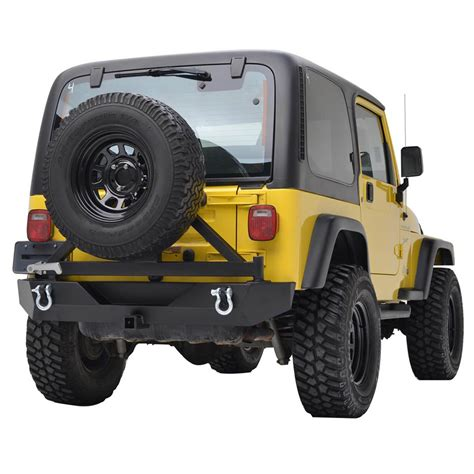 jeep yj rear bumper 87 06 jeep wrangler yj tj heavy duty rock crawler rear