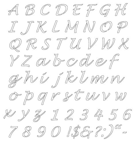 Lettering Templates Free Lucinda Stencil