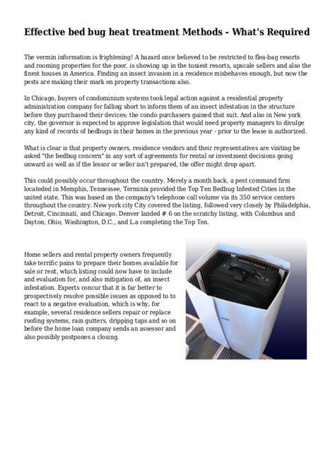 bed bug heat treatment effectiveness effective bed bug heat treatment methods what s required