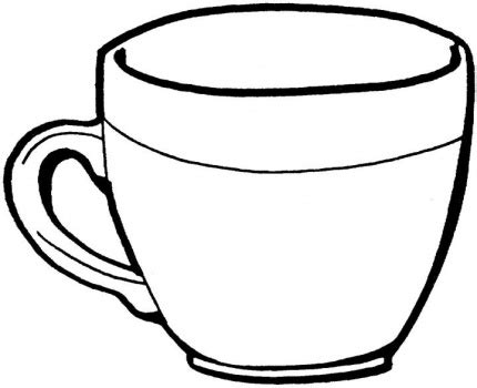 Teacup Outline Drawings by Cup Clipart Coloring Pencil And In Color Cup Clipart Coloring