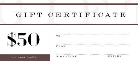 custom gift certificates 15 best gift certificate creations images