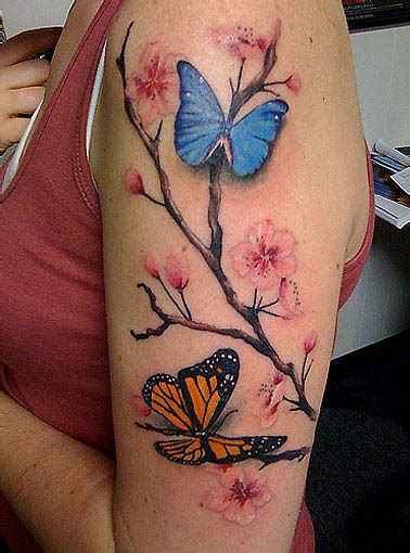 cherry blossom half sleeve tattoo designs feminine images designs