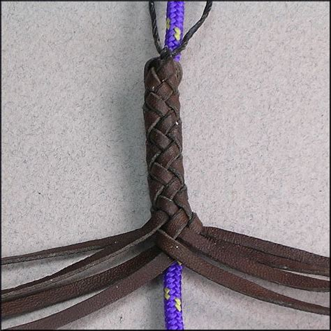 String Braiding Techniques - 8 strands leather braiding by