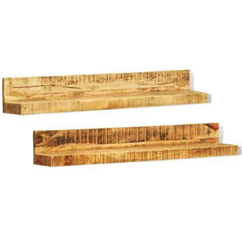 mensole a muro in legno mensole a muro in legno massiccio 2 articoli vidaxl it