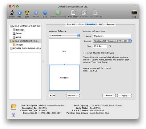 format hard drive mac scheme create a dual format drive for mac and windows