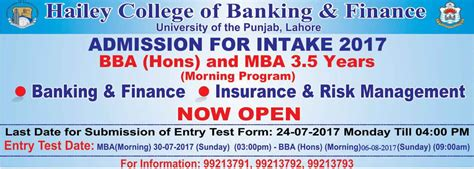Name And Then Mba by Pu Hailey College Mba Admissions 2017 Form Last Date