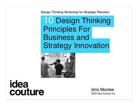 design thinking idris mootee innovation and design thinking idris mootee