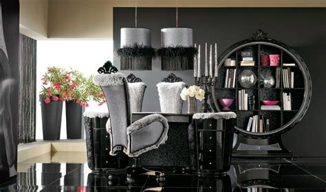 Dining Room Sets With Fabric Chairs by Luxurious Black And Grey House Interior Stylehomes Net