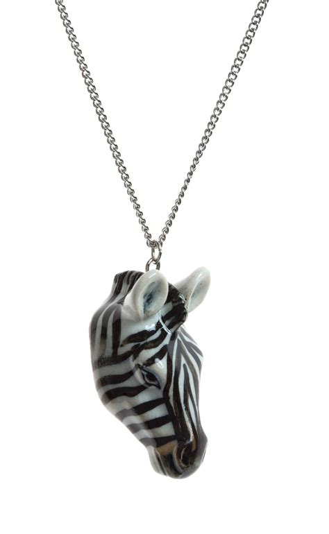 zebra necklace and