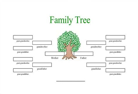 template for family tree free simple family tree template 25 free word excel pdf