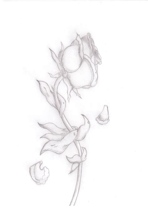 dying rose tattoo designs dying i would like it to look more realistic